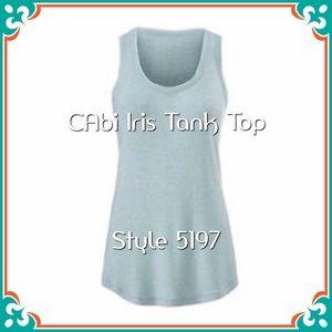 CAbi Iris Tank Top, Style 5197 M Teal EUC